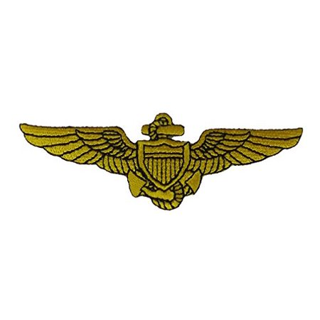 NAVAL AVIATOR PILOT WINGS Patch - Veteran Owned Business