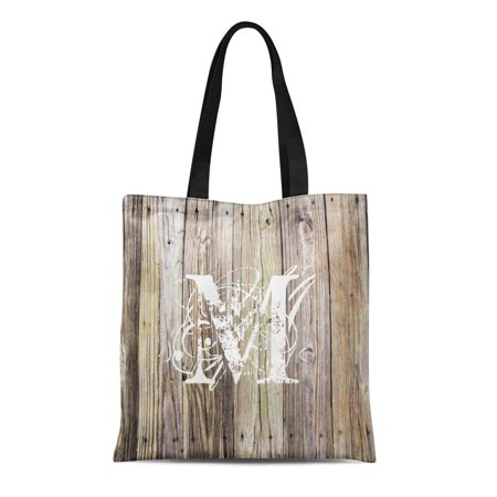 HATIART Canvas Tote Bag Country Weathered Wood Shabby Chic Girl Old Barn Reclaimed Reusable Handbag Shoulder Grocery Shopping Bags - image 1 of 1