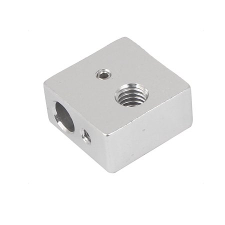 20mm x 20mm x 10mm 3D Printer MK7 MK8 Print Head Heating Aluminum Block