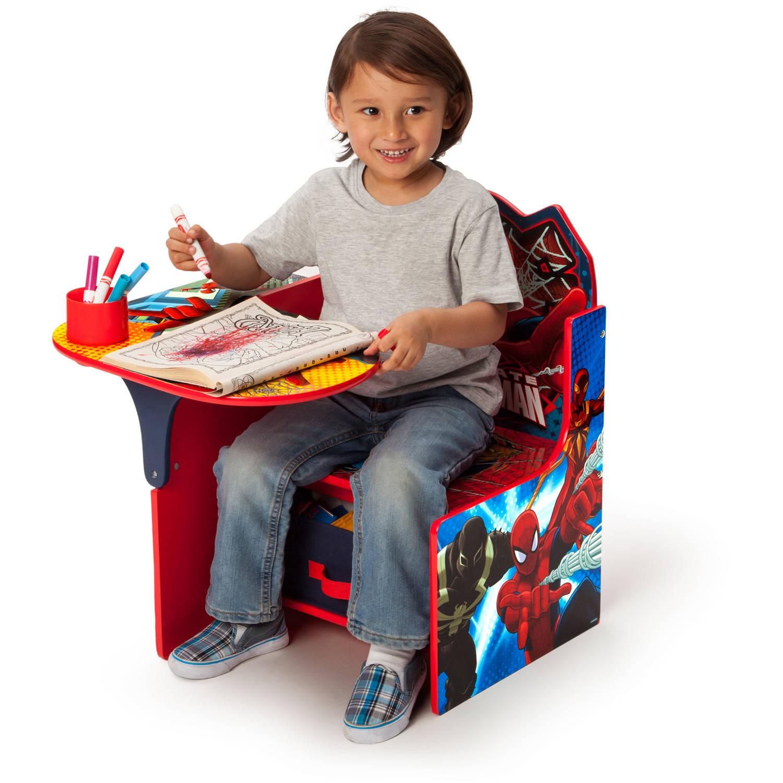 delta children spider man chair desk with storage bin walmart com