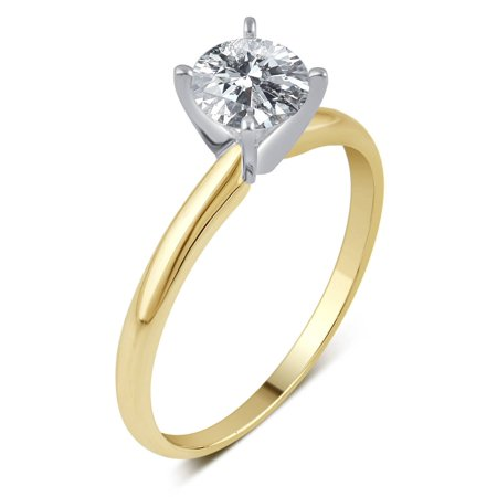 1/5 Carat T.W. IGL Certified Round Solitaire Diamond 14kt Yellow Gold Engagement Ring