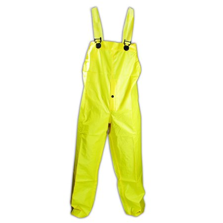- Magid RainMaster Yellow Vinyl Coated Bib Pants 2XL, Each