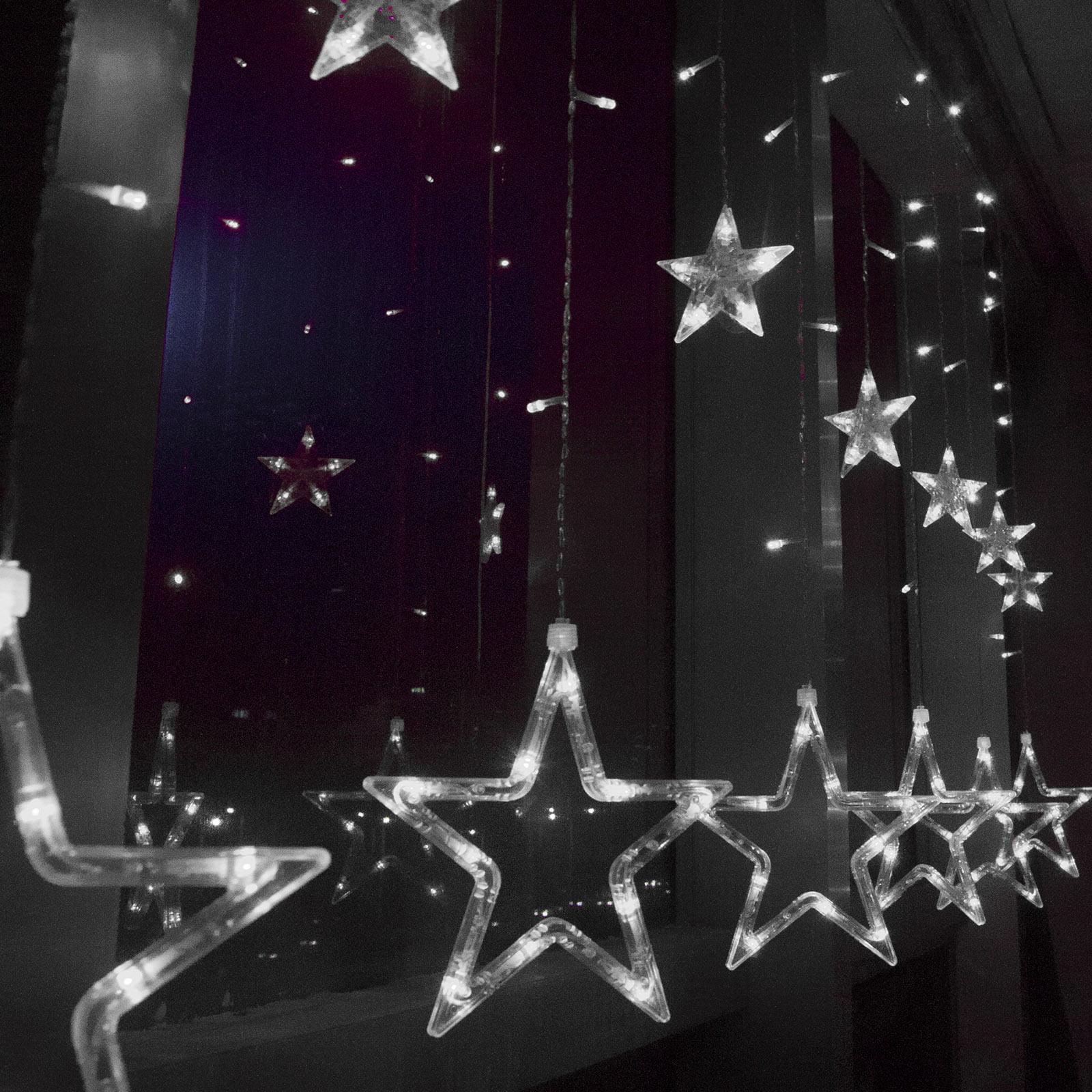 Hanging Star Curtain Lights - Curtain Designs