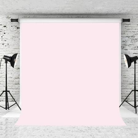 GreenDecor Polyster 5x7ft Pure Pink Backdrop Light Pink Solid Color Background Photo Studio - Pink Backdrop