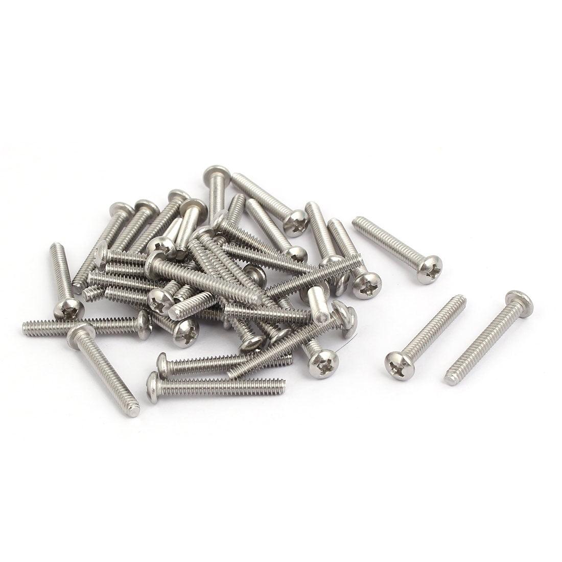 6#-32x1 pouces 304 acier inoxydable Tête Cruciforme vis machine 40Pcs - image 3 de 3