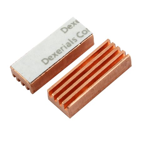 2 x Laptop MC-200 Copper Heat Sink for DDR DDR2 DDR3 RAM Memory ()