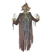 Hanging Light Up Eyes Scarecrow Zombie Halloween Deocraiton Prop