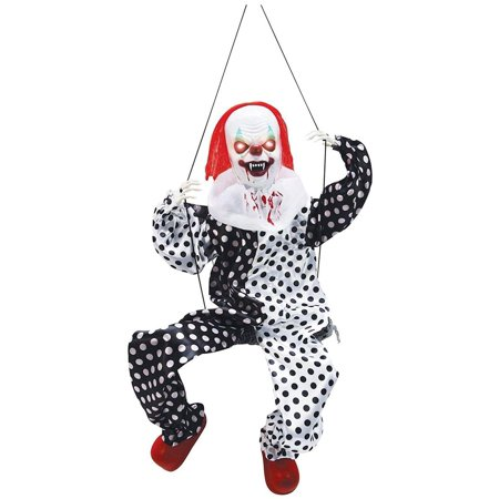 Animated Leg Kicking Clown on Swing Halloween Décor - Kick Buttowski Halloween