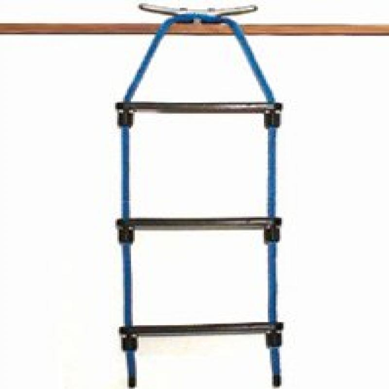 E-Z-TY 3-Step Rope Ladder - Black