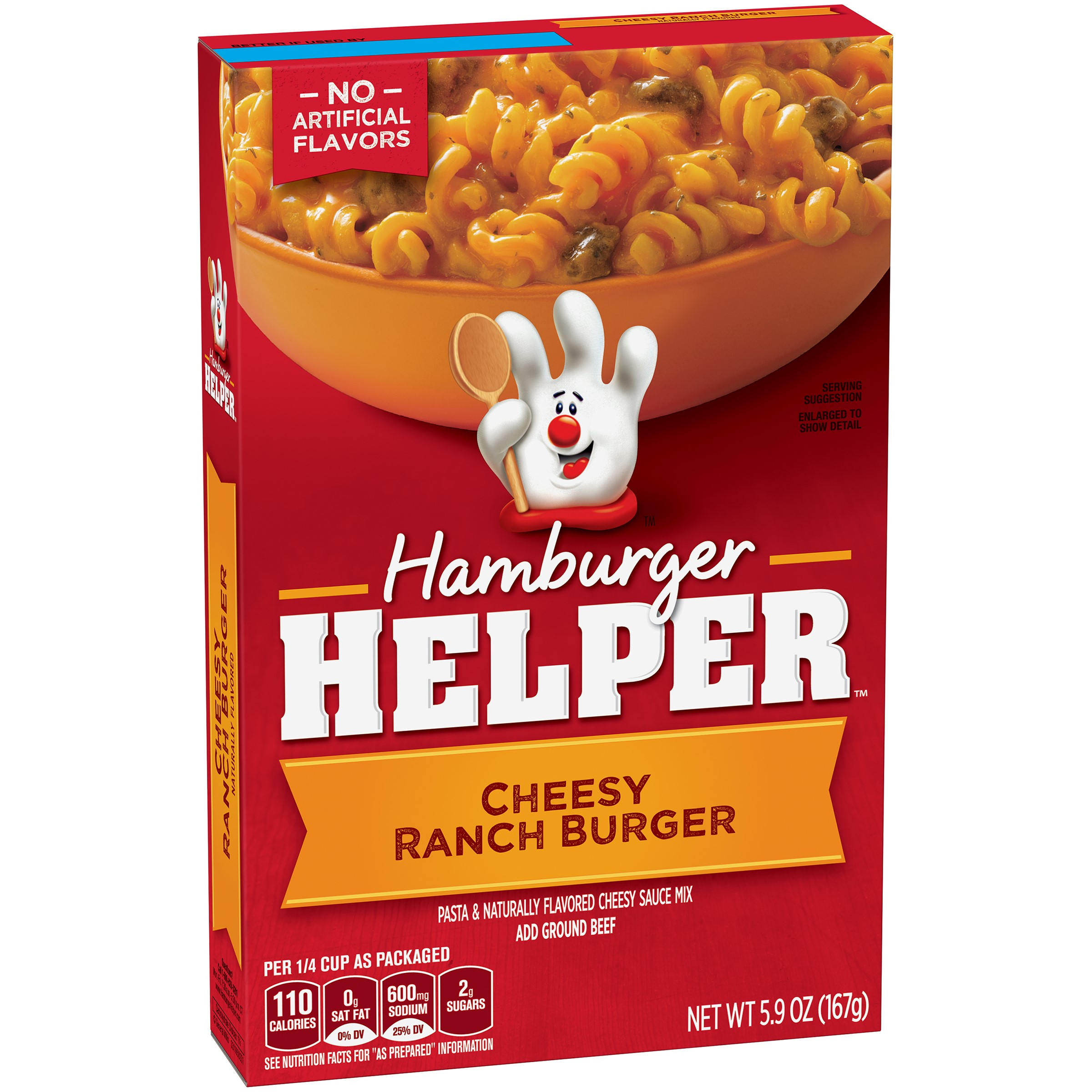 Hamburger Helper Dinner Kit, Cheesy Ranch Burger, 5.9 Oz