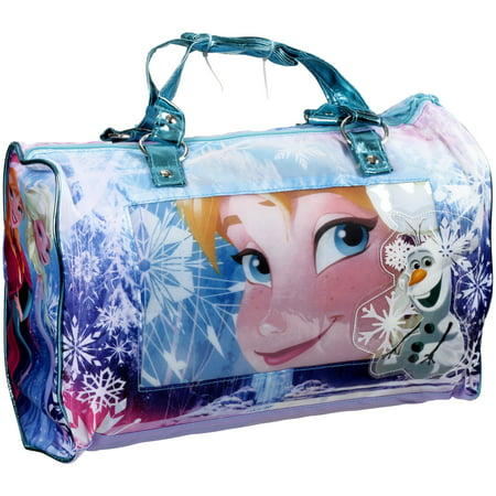 Girls Sleepover Set - Disney Frozen Sleepover Slumber Nap Mat with Purse and Bonus Eye Mask