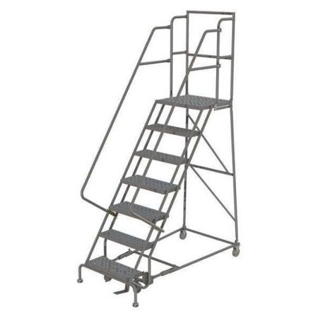 "Tri-Arc 7 Steps, 70"" H Steel Rolling Ladder, 450 lb. Load Capacity, KDSR107162"