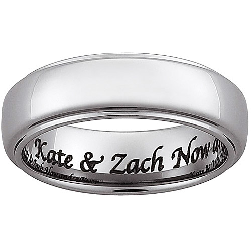 Personalized Tungsten Beveled Message Band