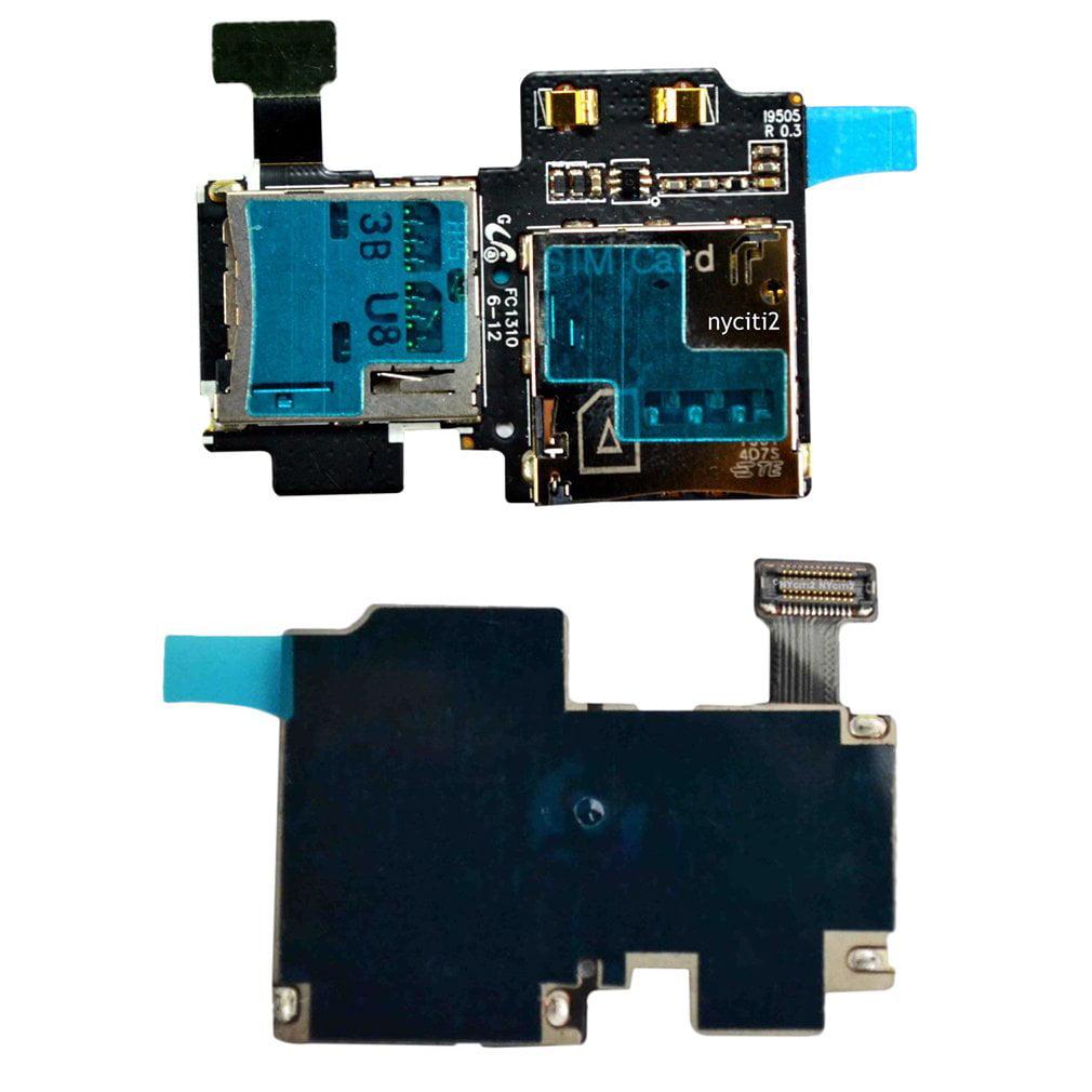 OEM Micro Security Memory+SIM Card Slot Flex For Samsung Galaxy S4