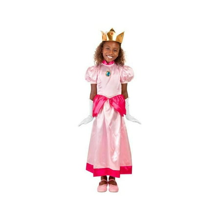 Child Peach Princess Costume (Halloween Costumes Princess Peach Mario)