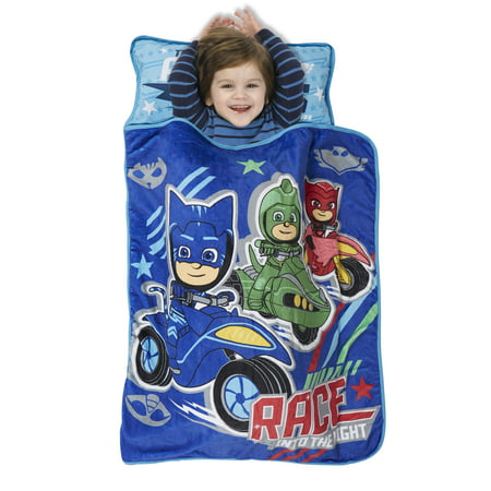 Toddler Sleeping Bag Personalized (PJ Masks Race Into the Night Toddler Nap)