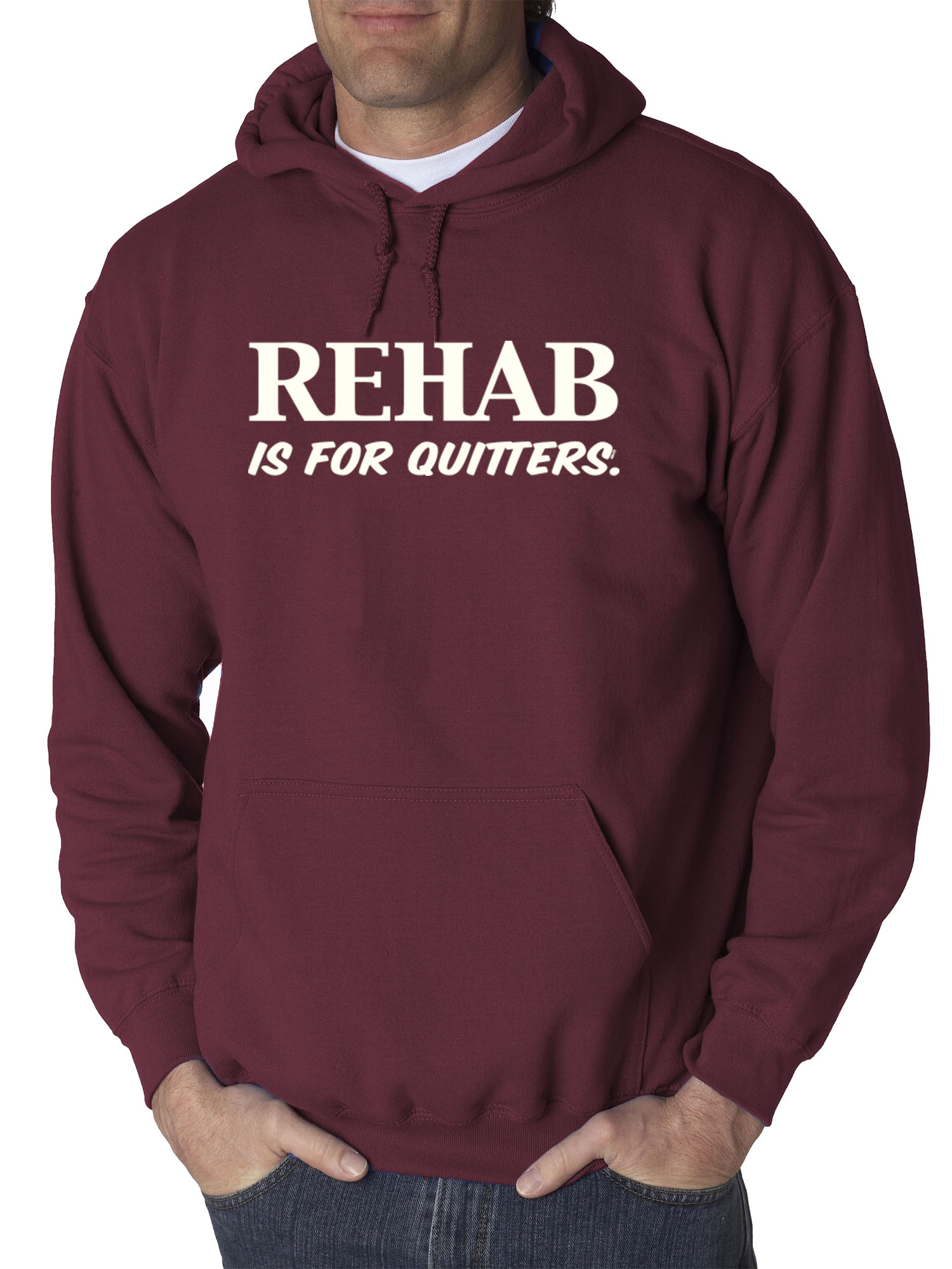 Big and tall sweatshirt hoodie rehab quitters shirt big and tall for men