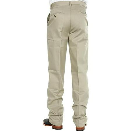 cdd5ad1a WRANGLER - Wrangler Mens Riata Flat Front Relaxed Fit Pants - Khaki ...