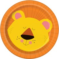 "7"" Animal Jungle Paper Dessert Plates, 8ct"