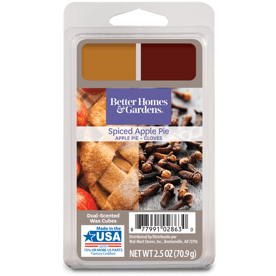 Better Homes Gardens Duo Scented Wax Melts Spiced Apple Pie