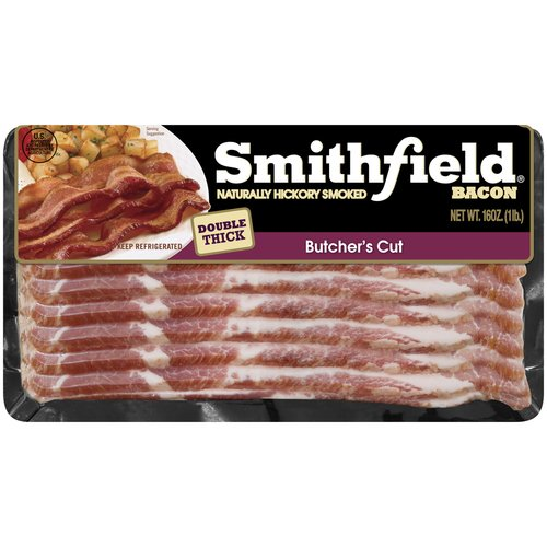Smithfield Naturally Hickory Smoked Butcher's Cut Bacon, 16 oz