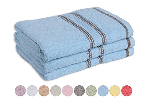 "3-Pack: 27"" x 52"" 100% Cotton Embroidery Bath Towels, Beach or Pool towels... by Ruthy's textile"