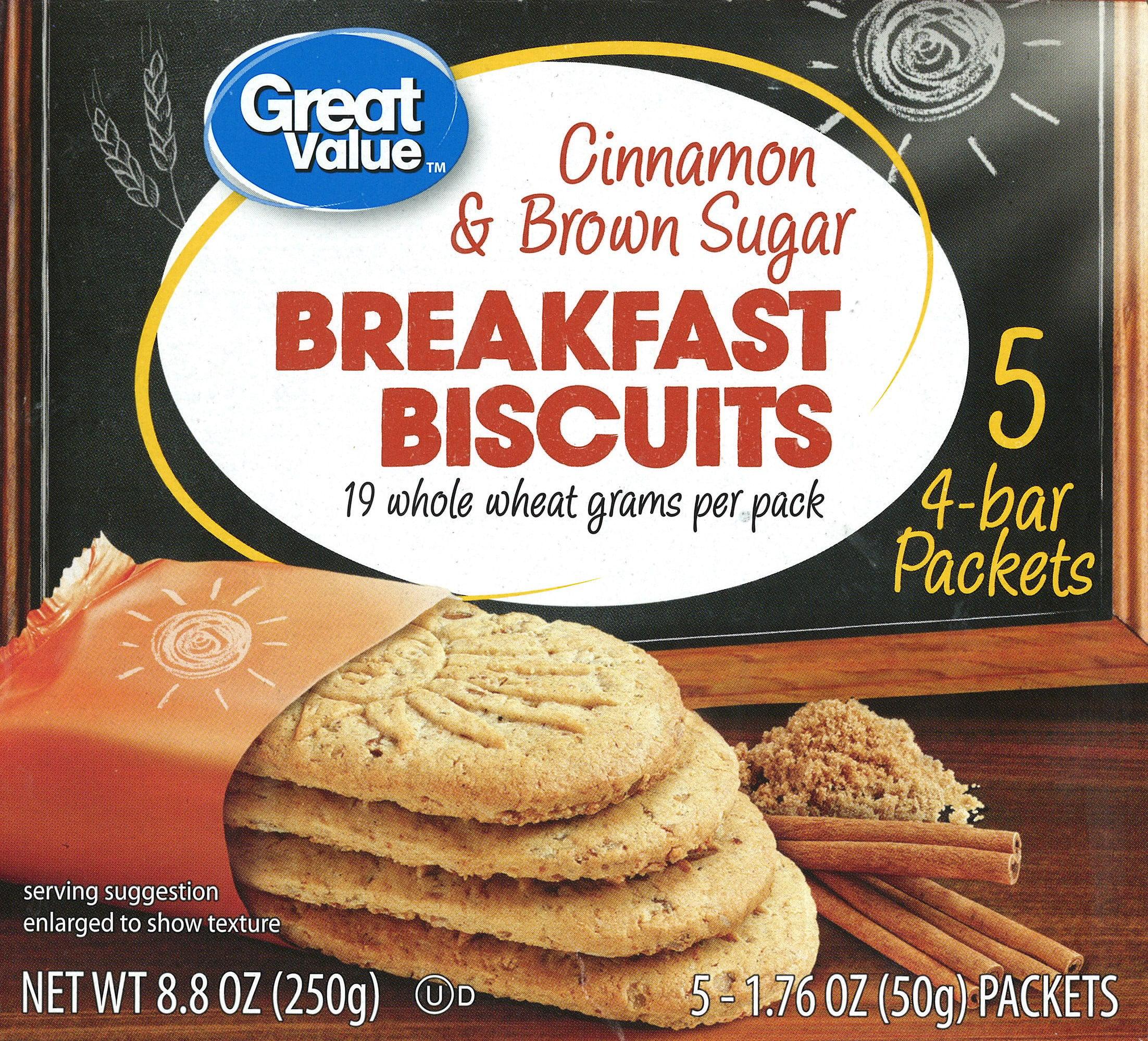Great Value Cinnamon and Brown Sugar Breakfast Biscuits