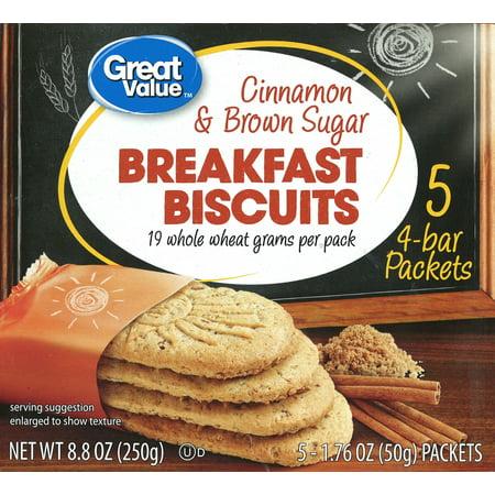 - (6 Pack) Great Value Cinnamon and Brown Sugar Breakfast Biscuits