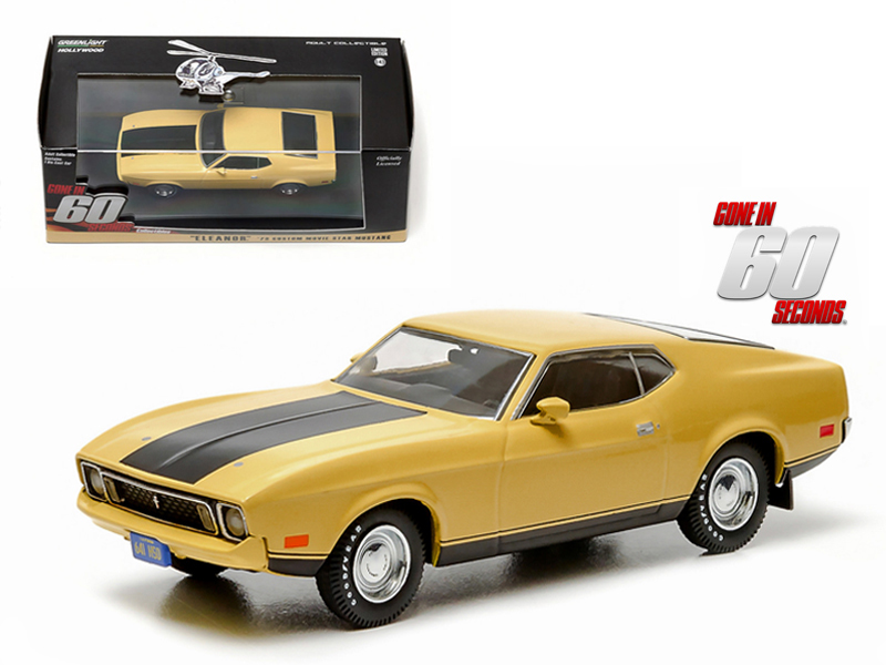 "1973 Ford Mustang Mach 1 Yellow Eleanor"" ""Gone in Sixty Seconds"" Movie... by GreenLight"