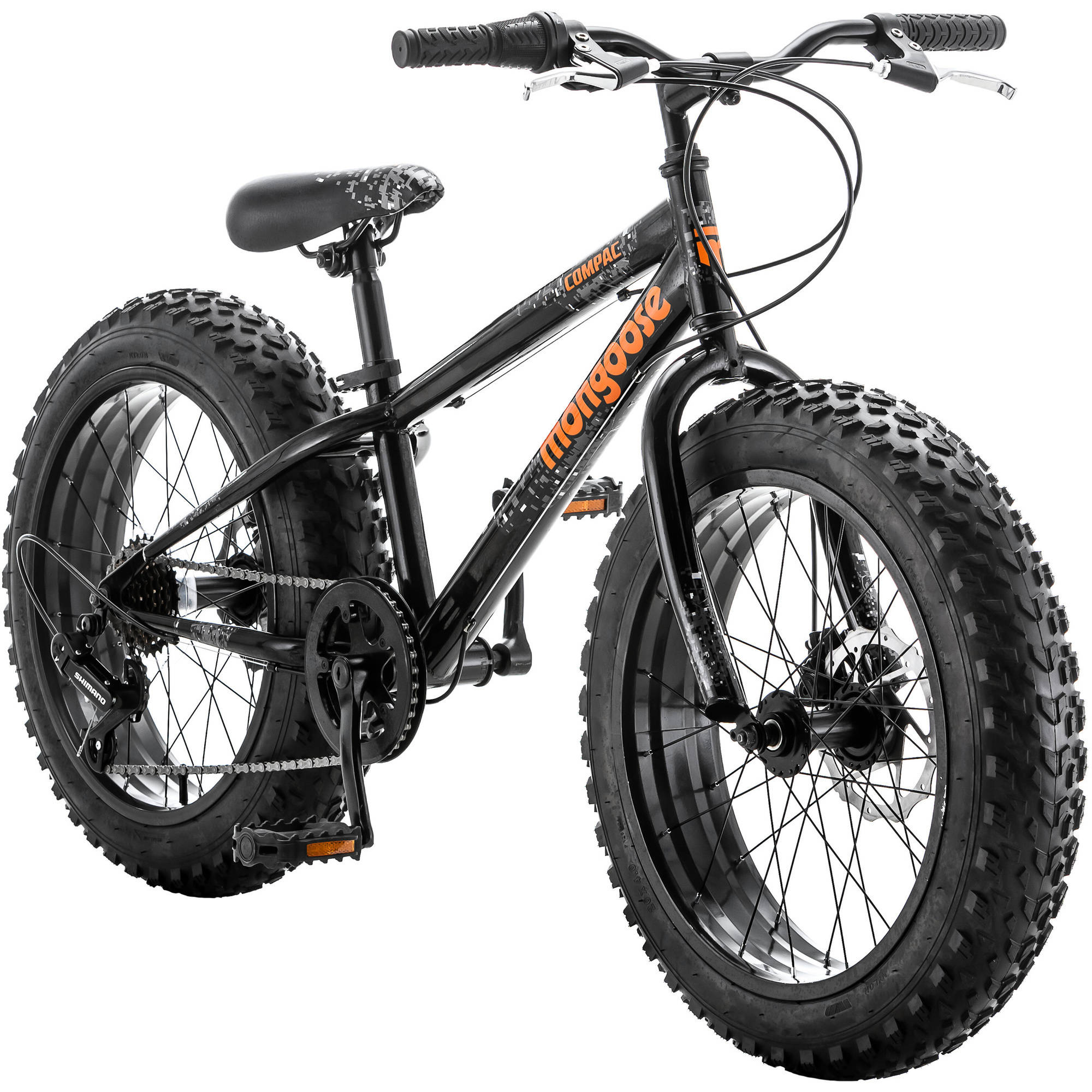 "20"" Mongoose Boys' Compac Fat Tire Bike, Black"