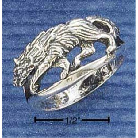 Sterling Silver Wolf Ring - Size 6 - image 1 de 1