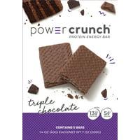 Powercrunch Original Protein Bar, 13g Protein, Triple Chocolate, 7 Oz, 5 Ct