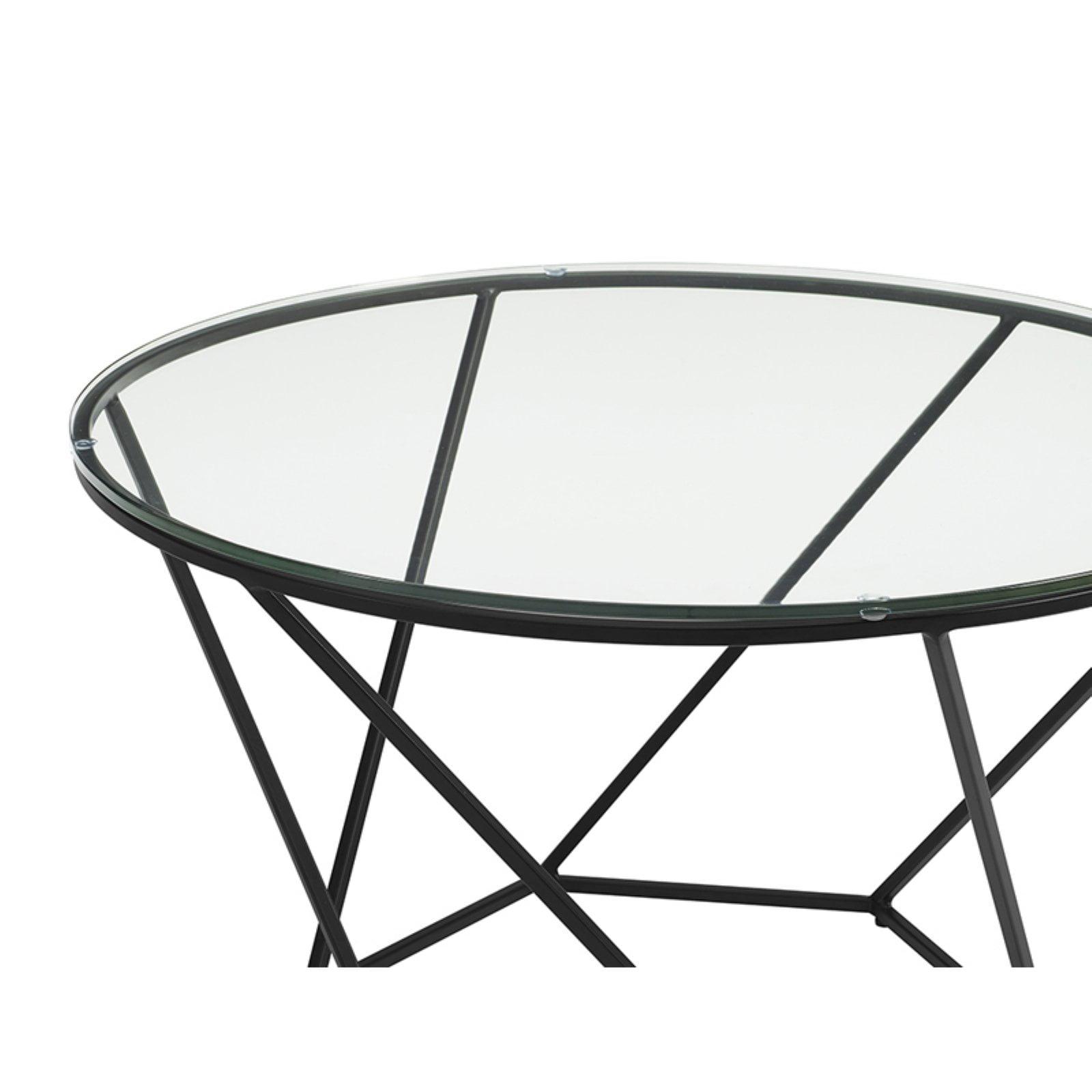 Walker Edison Geometric Nesting Coffee Table Set