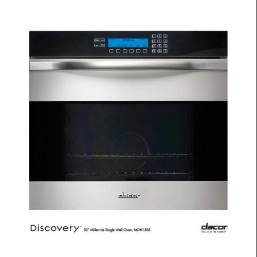 "Dacor  Discovery MOH127S 27"" Single Electric Wall Oven with 3.7 cu. ft. Convection Oven  RapidHeat Bake/Broil Element"