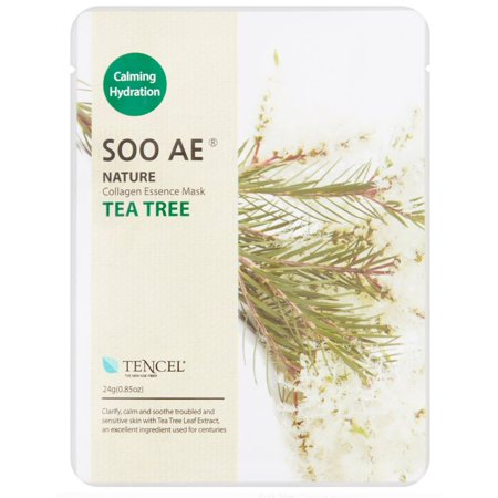 Soo Ae Nature Tea Tree Collagen Essence Mask, 0.85 oz (Pack of