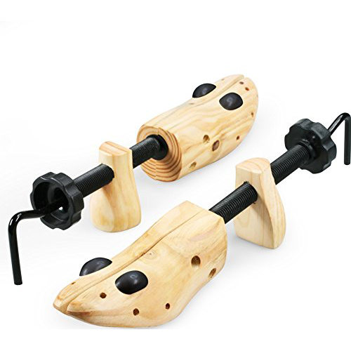 IGIA Professional Adjustable Wooden Shoe Stretcher For Unisex Shoes - 1 Pack