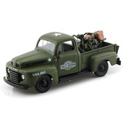 1948 1942 Ford F-1 Pickup Harley-Davidson   WLA Flathead Motorcycle, Green Army Maisto HD 32185 1 24 Scale Diecast Model... by Maisto