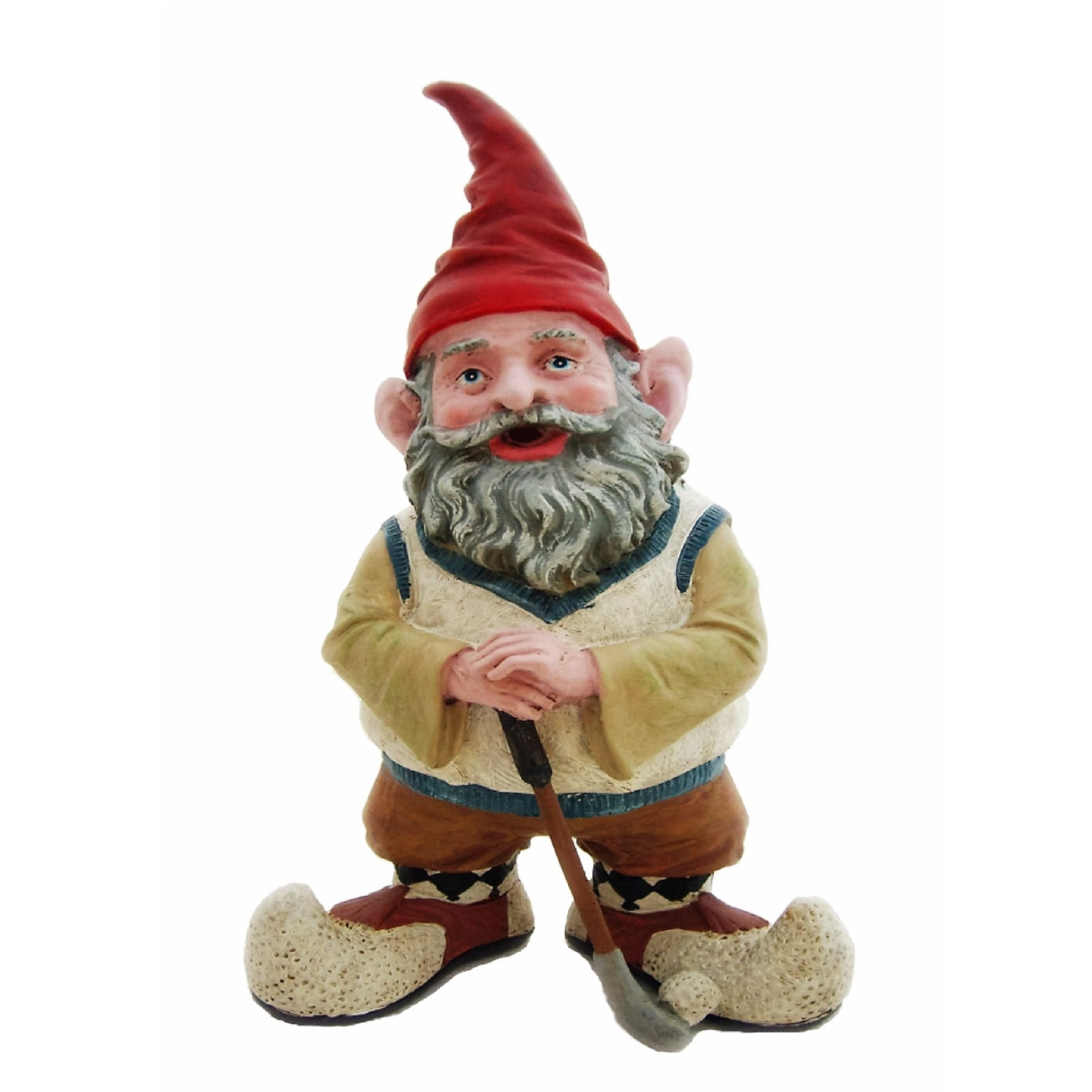 Nowaday Gnomes Greg the Golfer Gnome Holding a Golf Club & Golf Ball Home & Garden Gnome... by GSI Homestyles