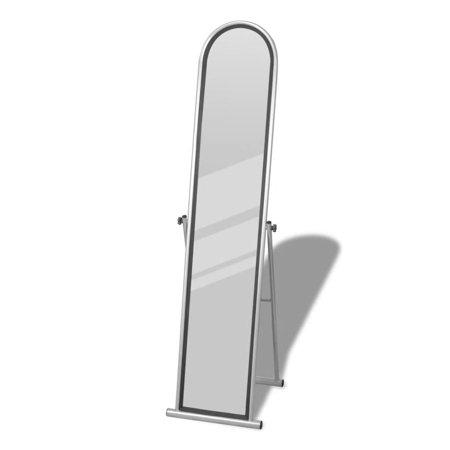 Rectangular Floor Guard (WALFRONT Free Standing Floor Mirror Full Length Rectangular Gray)