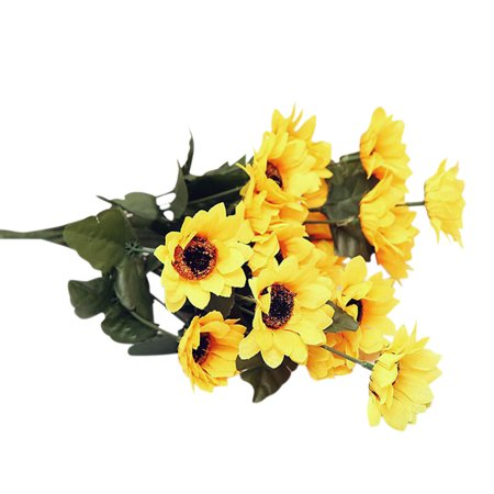 - Artificial Silk Cloth Flowers Leaves Artificial Sunflower Home Table Bouquet Decoration