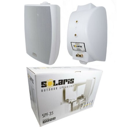2x 6.5 300W 2-Way Surface-Mount C Clamp Outdoor Speaker Home Audio White 300w Surface Mount Transformer