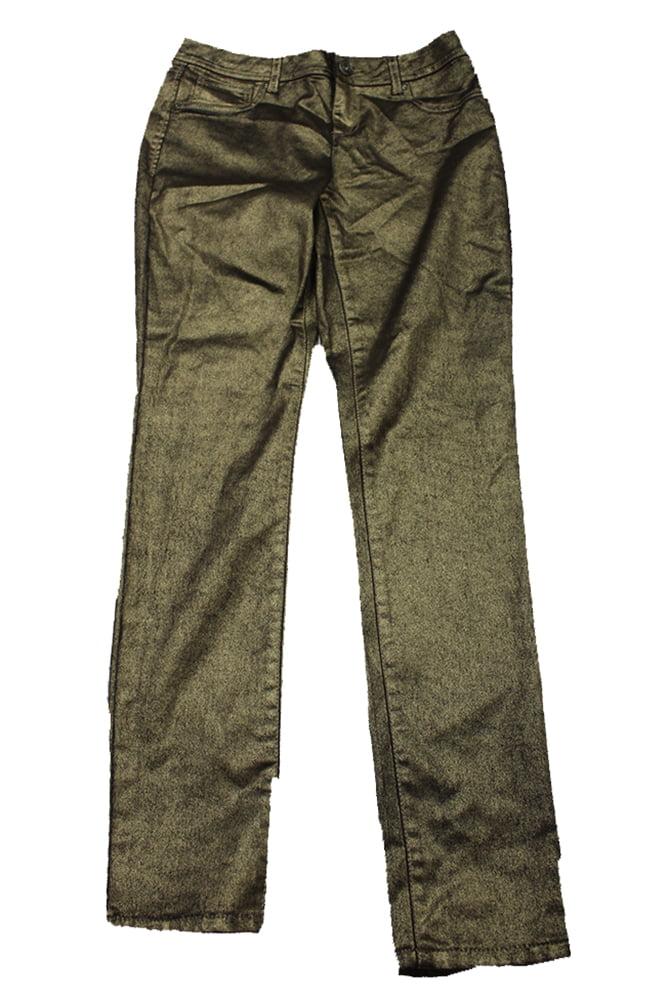 Inc International Concepts Gold Metallic Skinny Jeans   4