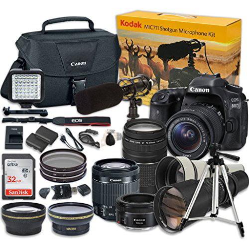 Canon EOS 80D Digital SLR Camera w  EF-S 18-55mm f 3.5-5.6 IMage Stabilization STM & EF 75-300mm f 4-5.6 III... by Paging Zone