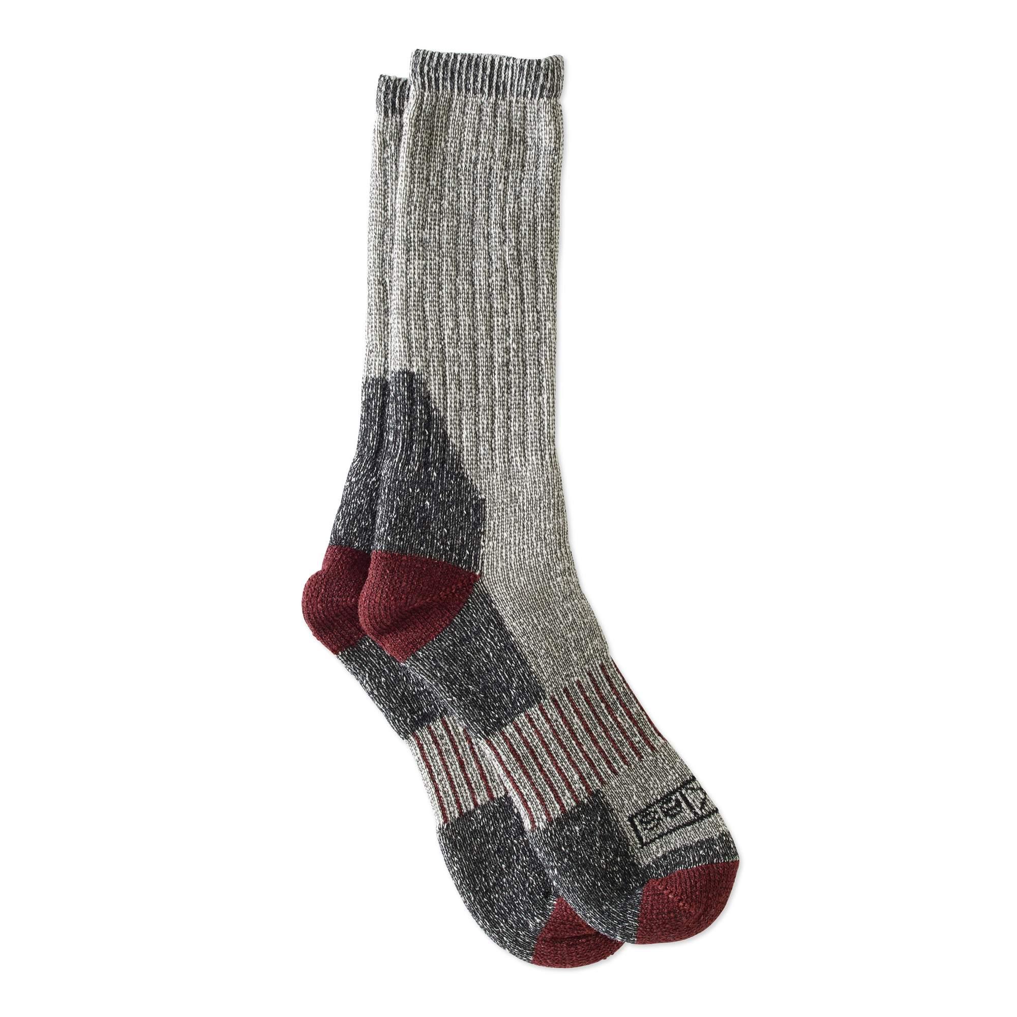 Dickies Men's Wool Thermal Steel Toe Crew Socks, 2-Pack, Size 6-12