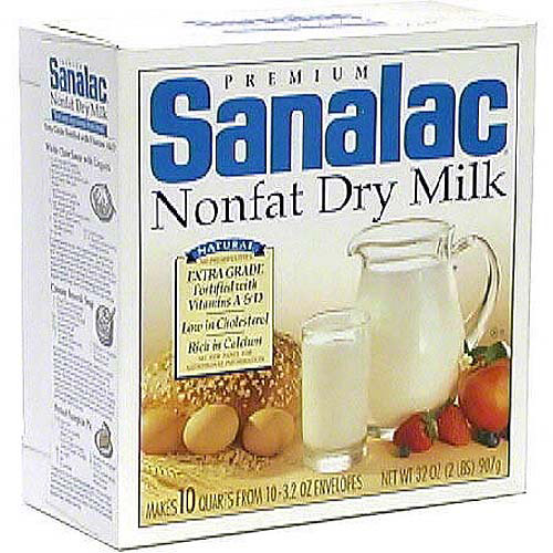 Sanalac Premium Nonfat Dry Milk, 32 oz (Pack of 6)