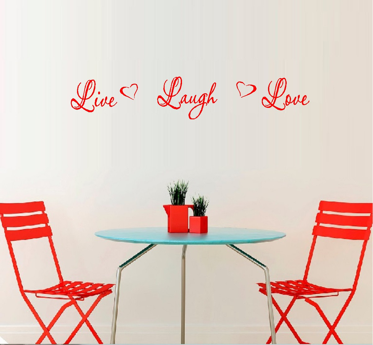 "Decal ~ LIVE LAUGH LOVE #5 ~ WALL DECAL, HOME DECOR 6.25"" X 36"""