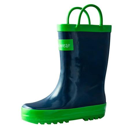 2d755c37295 Oakiwear Kids Rain Boots For Boys Girls Toddlers Children Navy Blue