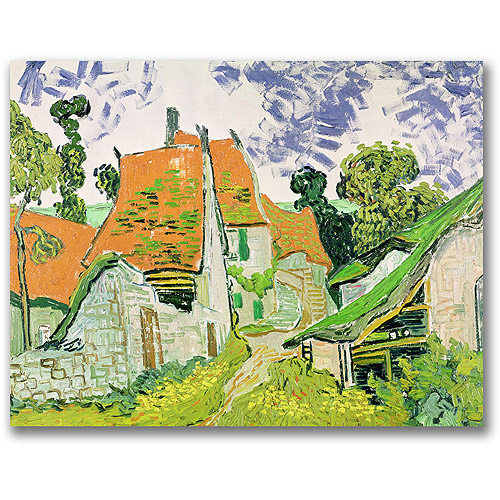 "Trademark Fine Art ""Street In Auvers-Sur-Oise"" Canvas Wall Art by Vincent van Gogh"
