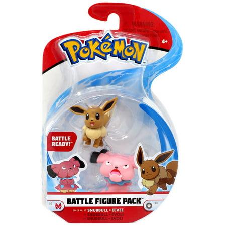 Pokemon Series 3 Battle Figure Snubbull & Eevee Mini Figure 2-Pack ()