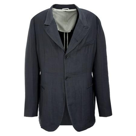 Giorgio Armani Men's Single Breasted Light Blazer IT 56R Navy (Armani Suit)